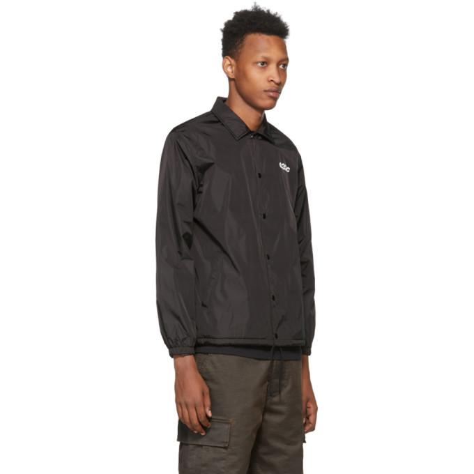 032c Black Logo Graphic Coach Jacket