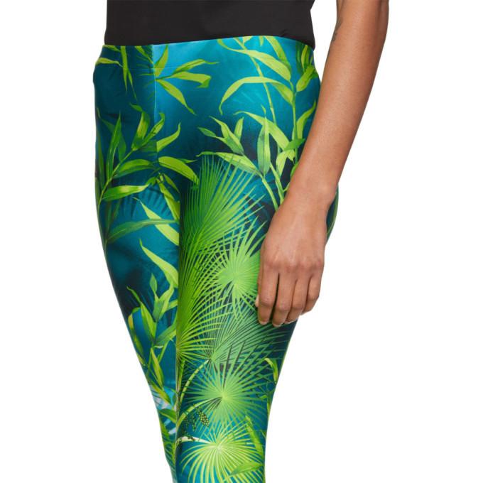 Versace Green Jungle Leggings