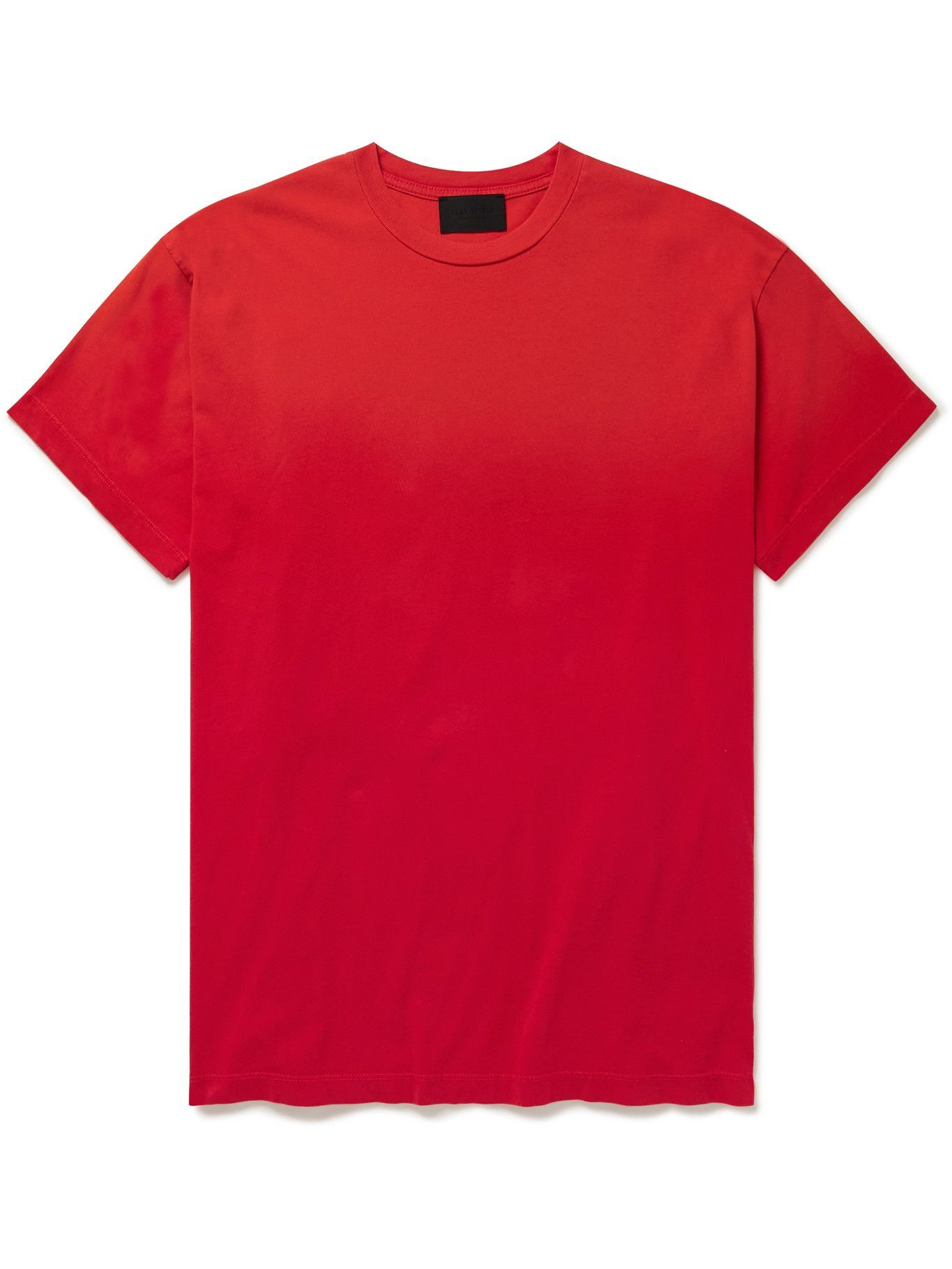 Photo: Fear of God - Logo-Flocked Cotton Jersey T-shirt - Red