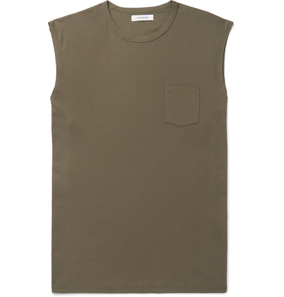 Photo: nonnative - Dweller Oversized Cotton-Jersey Tank Top - Green