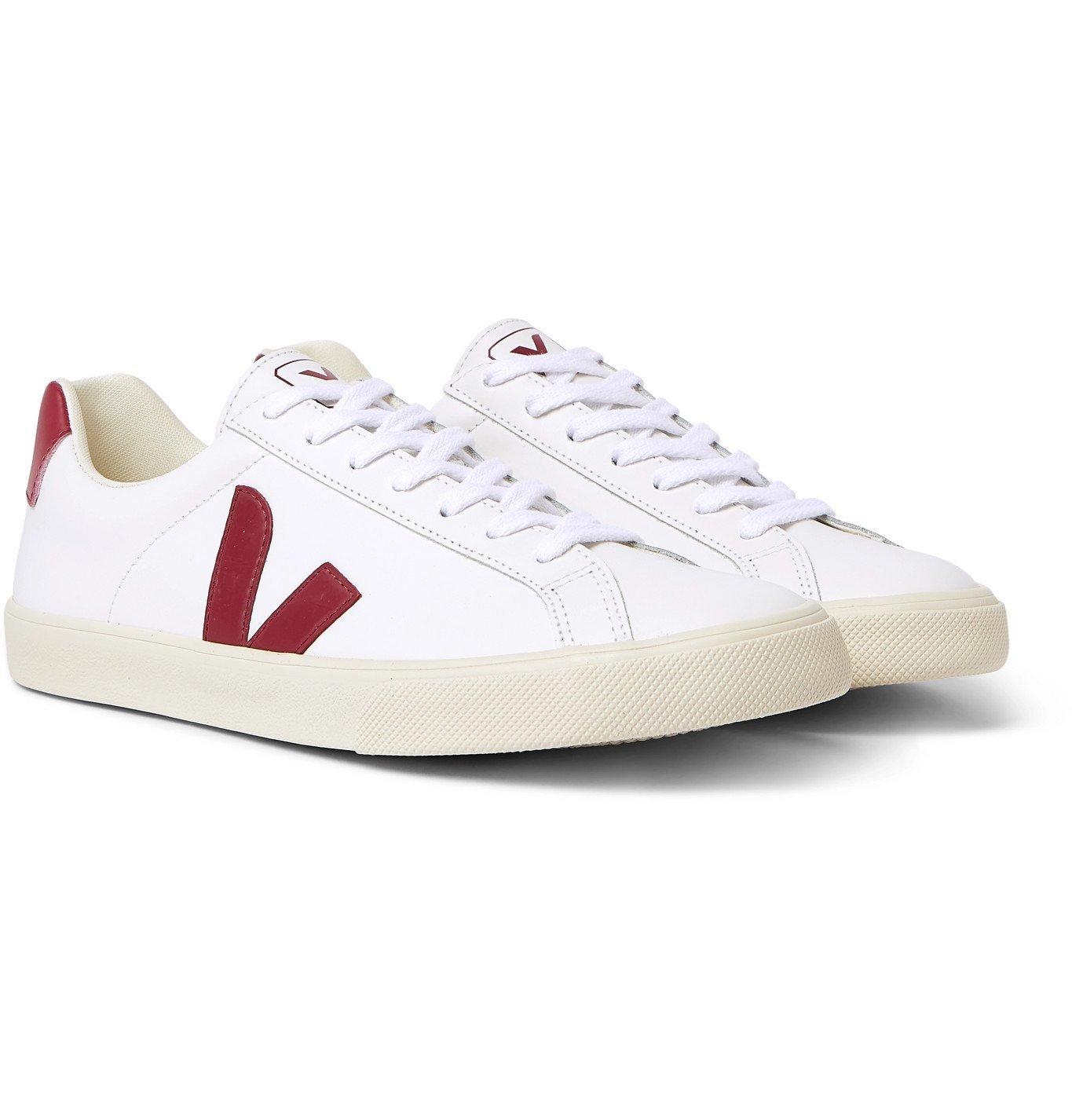 Photo: Veja - Esplar Rubber-Trimmed Leather Sneakers - White