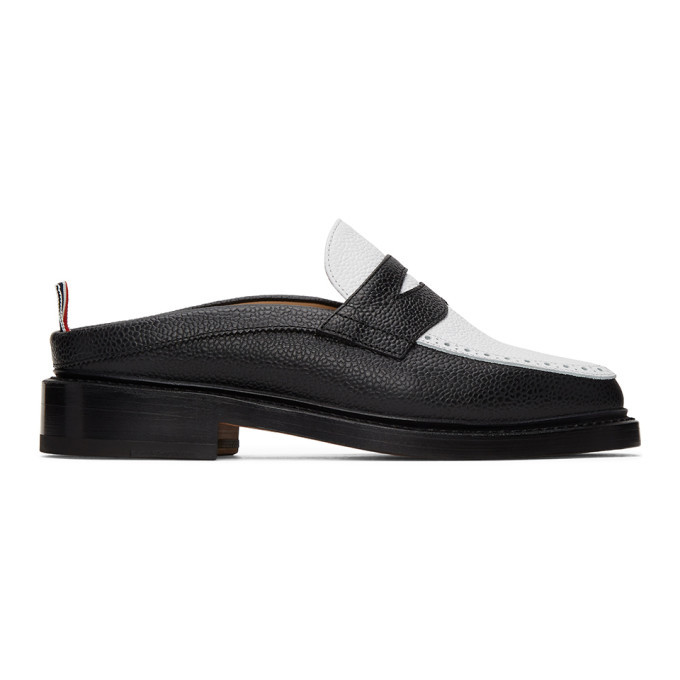 Photo: Thom Browne Black and White Penny Loafers