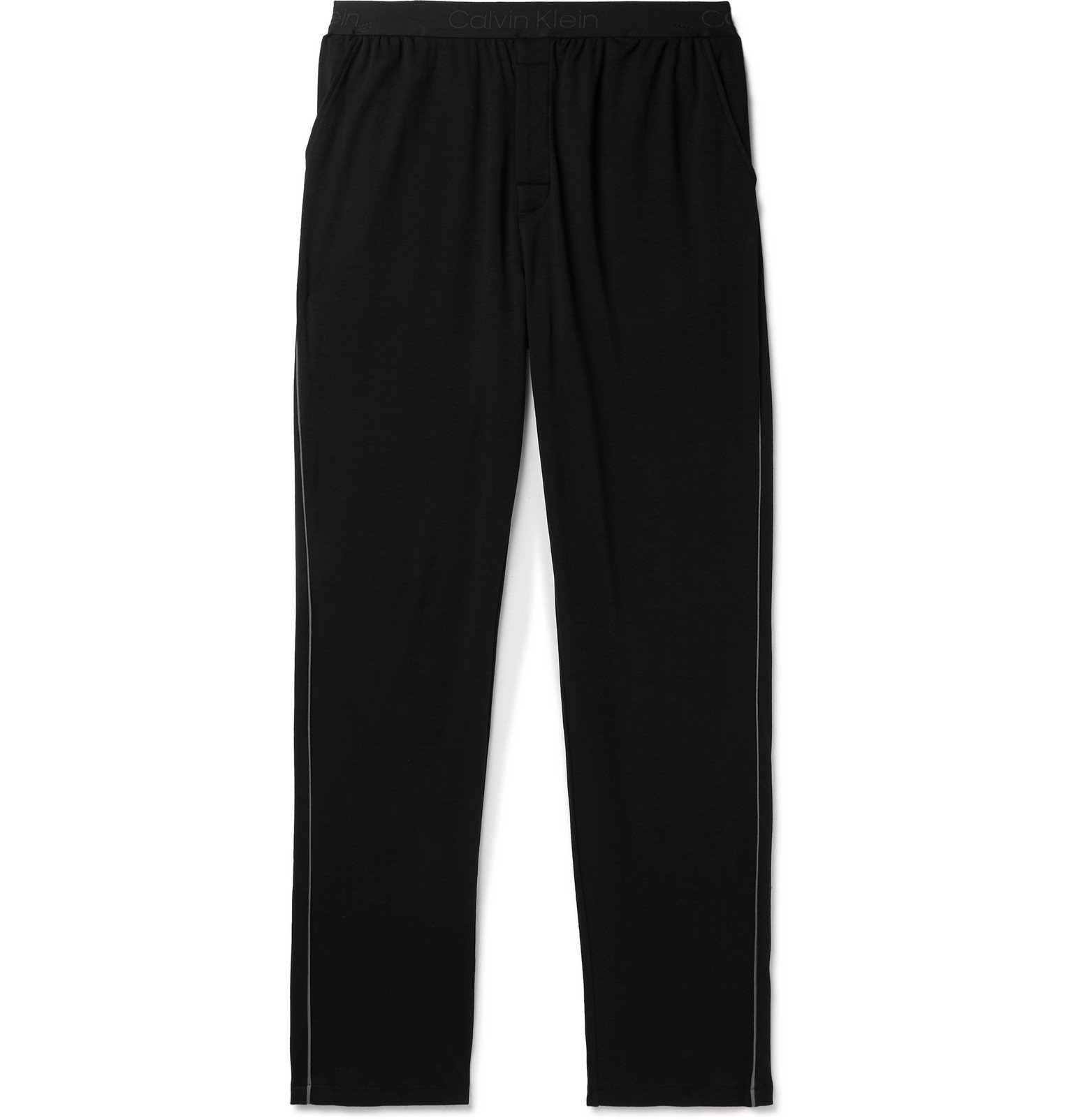 Photo: Calvin Klein Underwear - Piped Cotton-Jersey Pyjama Trousers - Black