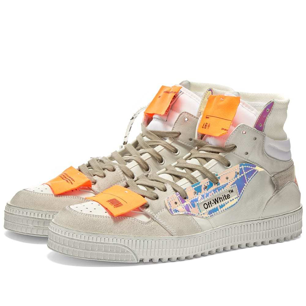 Photo: Off-White Off Court Hi Iridescent Sneaker