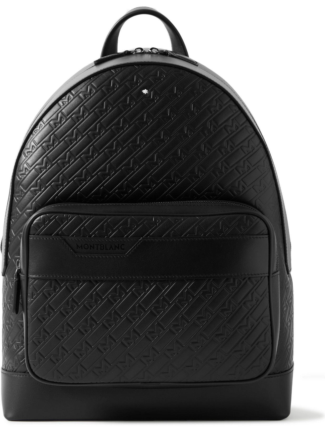 Photo: Montblanc - M_Gram 4810 Logo-Embossed Leather Backpack