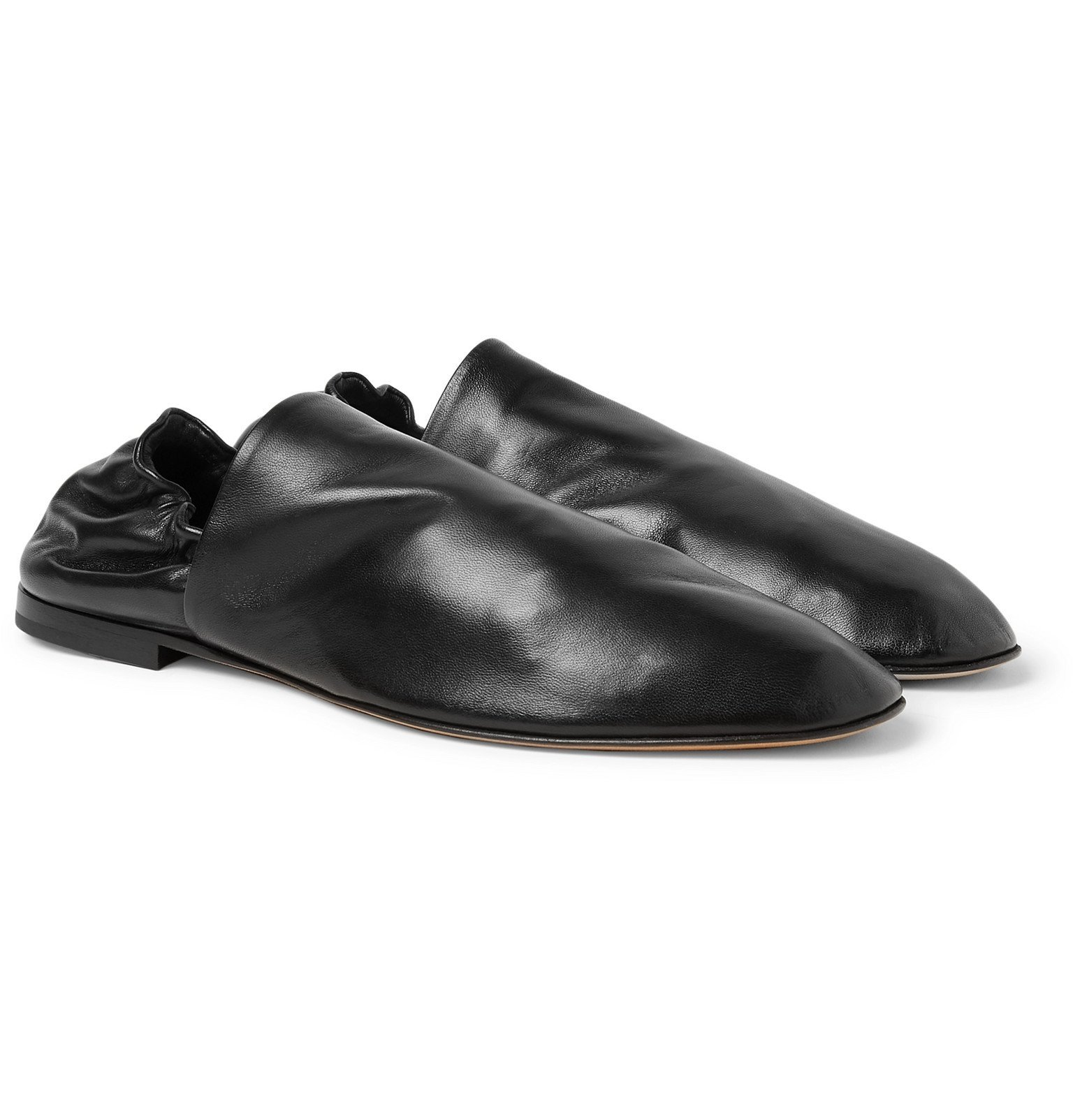 Photo: Bottega Veneta - Leather Loafers - Black