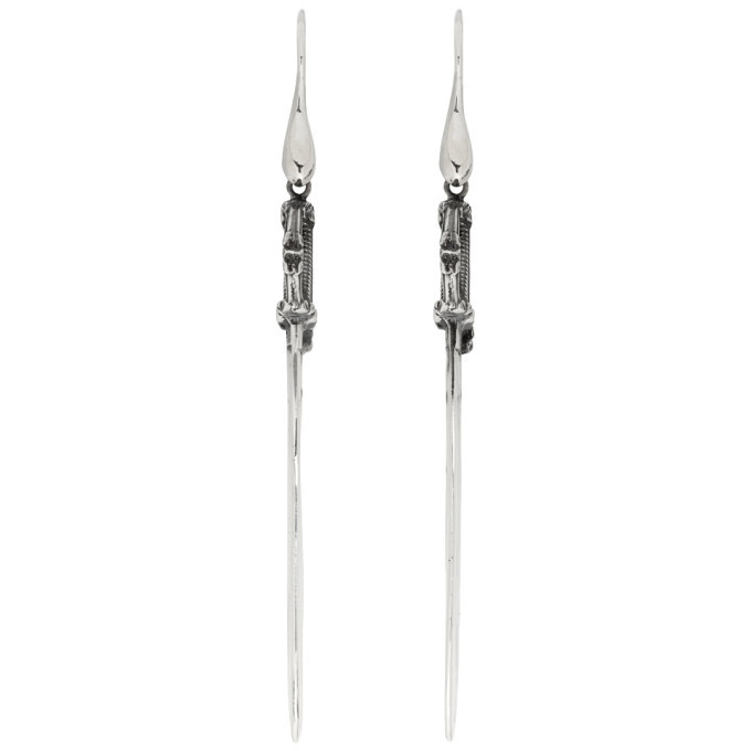 Photo: Ugo Cacciatori Silver Small Saber Earrings