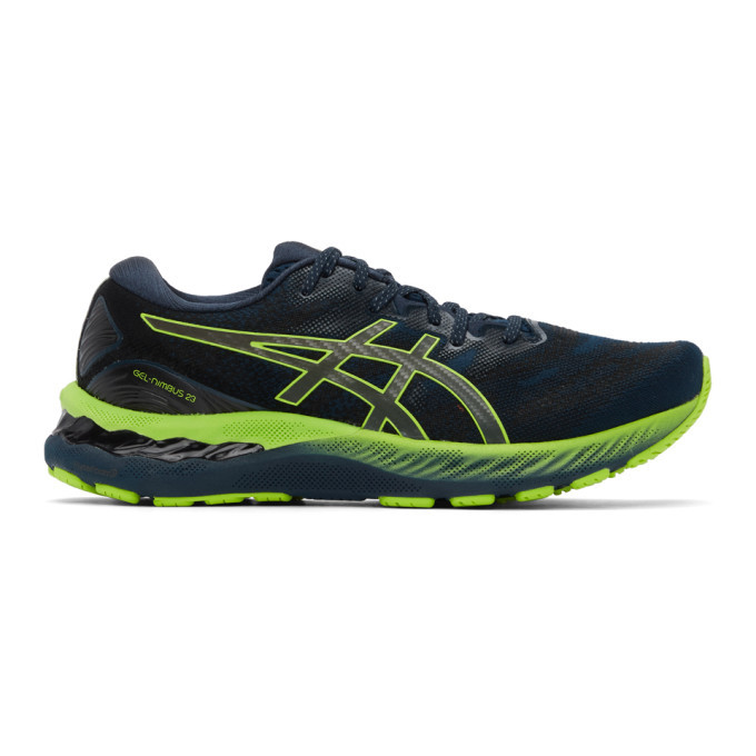Photo: Asics Blue and Green Gel-Nimbus 23 Lite-Show Sneakers