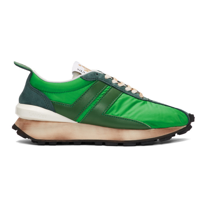 Photo: Lanvin Green Running Sneakers