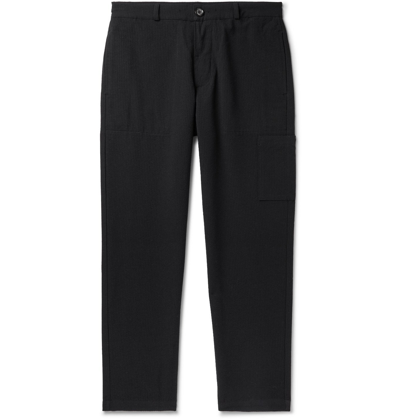 Photo: Oliver Spencer - Judo Tapered Organic Cotton-Twill Trousers - Blue