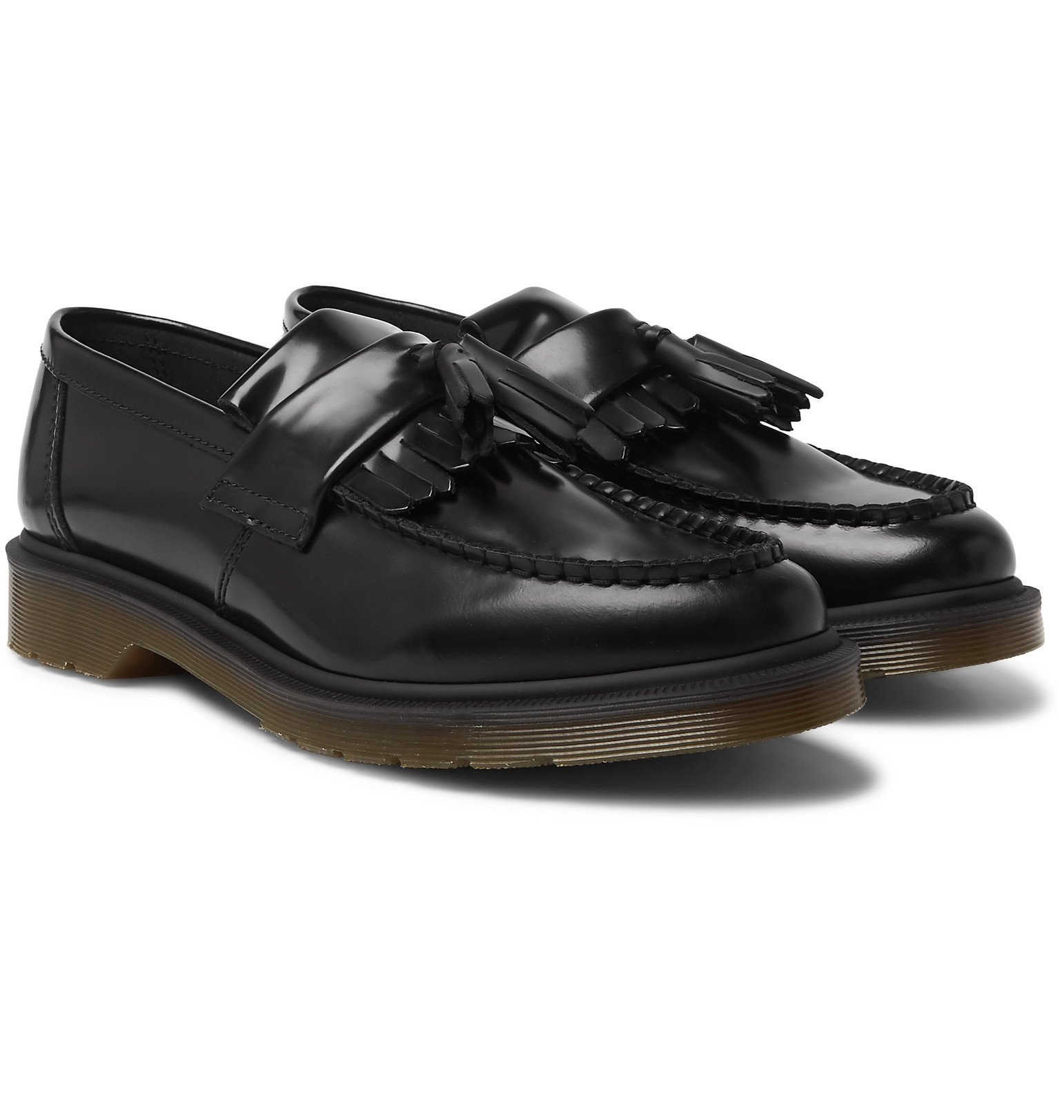 Photo: Dr. Martens - Adrian Polished-Leather Tasselled Loafers - Black