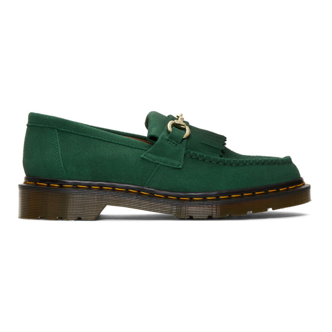 Photo: Dr. Martens Green United Arrows Edition Suede Snaffle Loafers