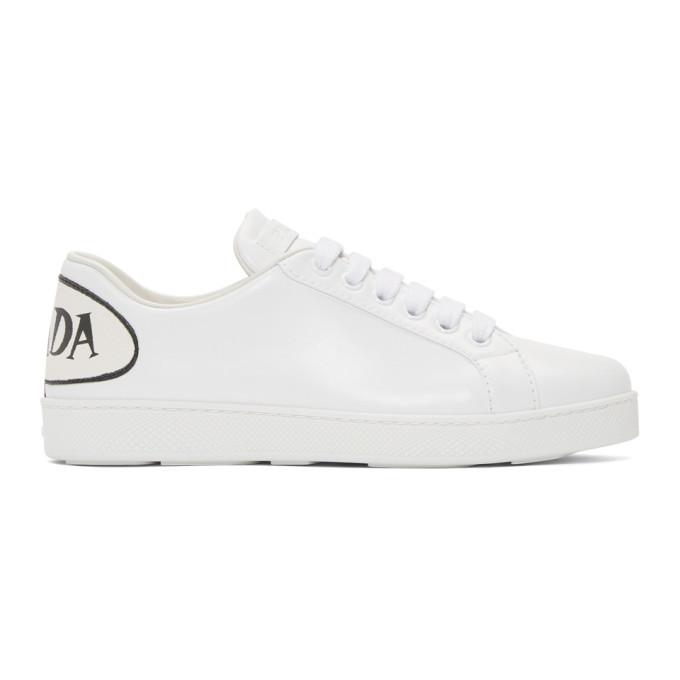 Prada White Bubble Comics Sneakers Prada