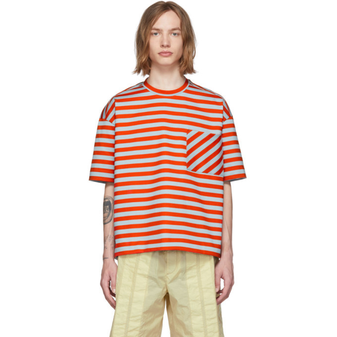 Photo: Jil Sander Orange Stripe T-Shirt