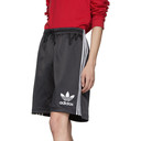 adidas Originals Black Satin Shorts