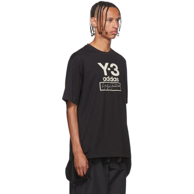 Y-3 Black Stacked Logo T-Shirt