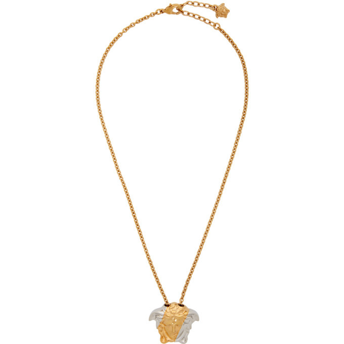 Photo: Versace Gold and Silver Palazzo Dia Necklace