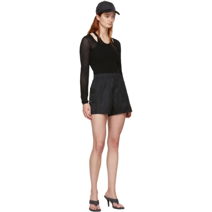 alexanderwang.t Black Mesh Layering Long Sleeve T-Shirt