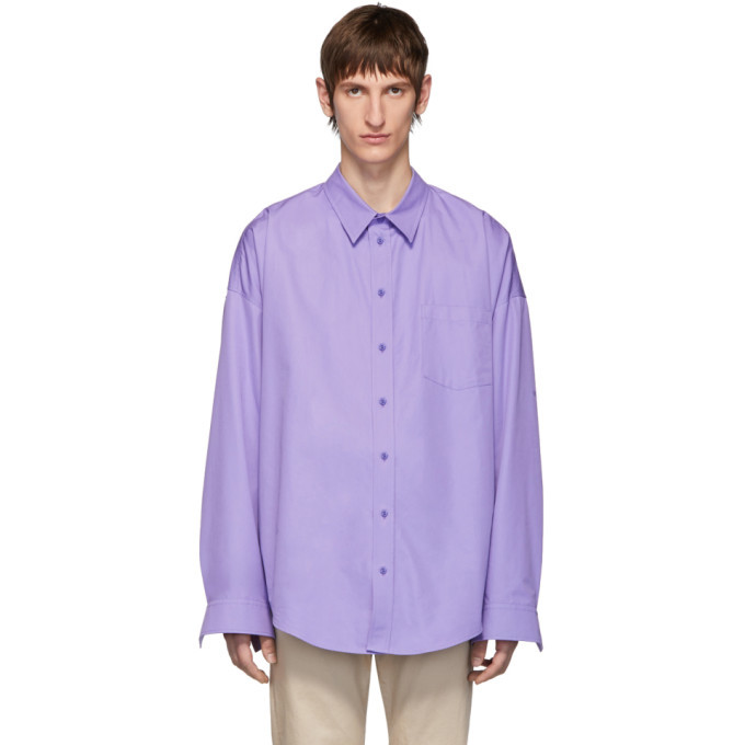 Photo: Balenciaga Purple Cocoon Shirt