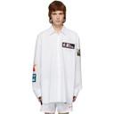 Raf Simons White Patch Oversized Shirt