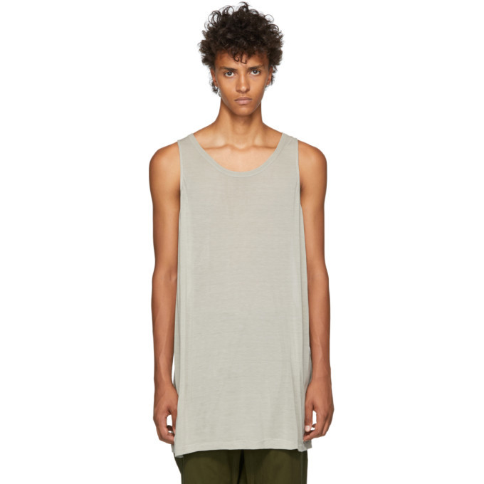 Photo: Rick Owens Grey Loose Tank Top