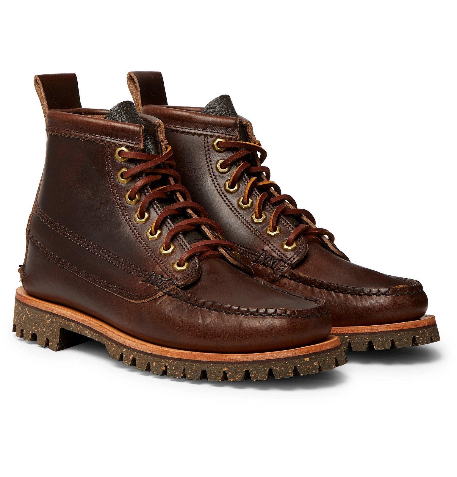 Photo: Yuketen - Angler Leather Boots - Brown