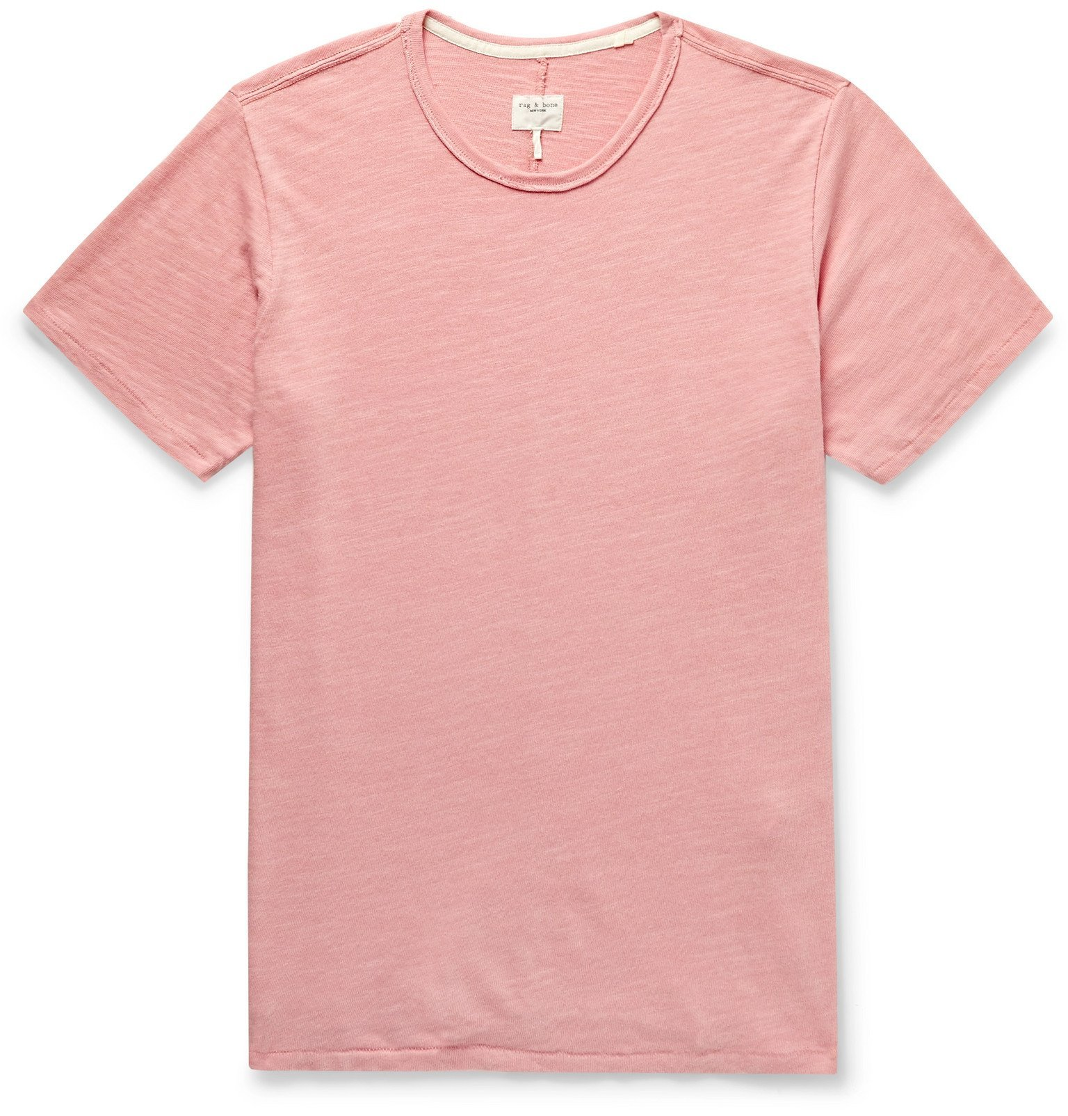 Photo: rag & bone - Classic Slub Cotton-Jersey T-Shirt - Pink