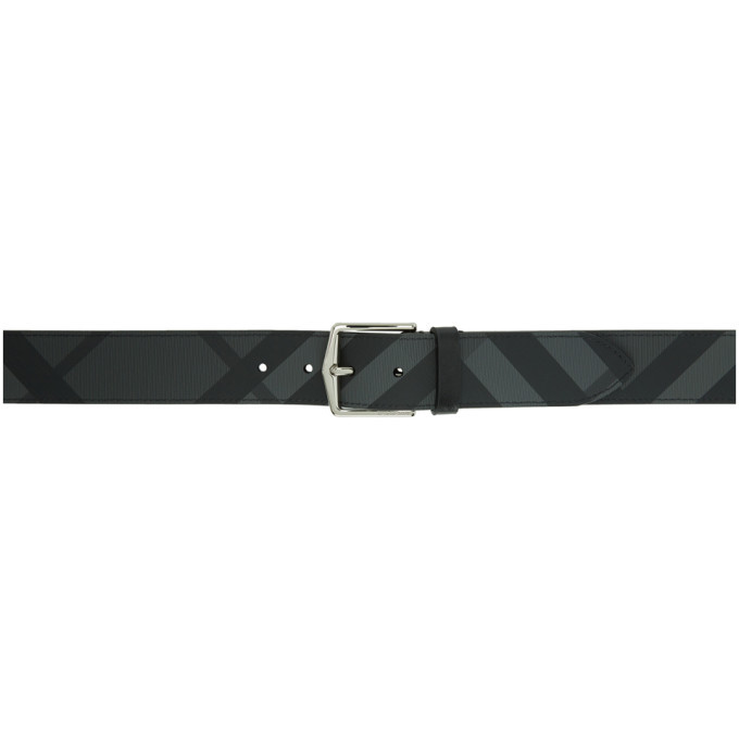 2703749c2bd Burberry Grey and Black London Check Belt Burberry