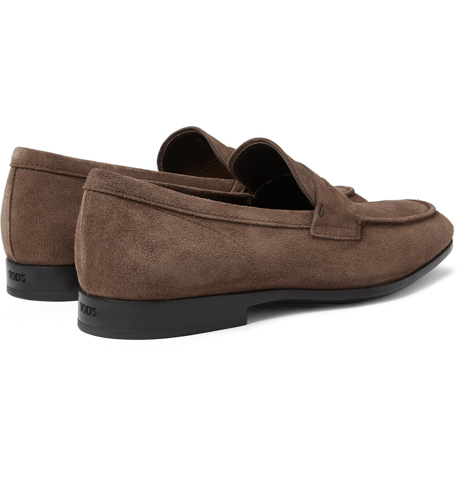 Tod's - Suede Penny Loafers - Brown