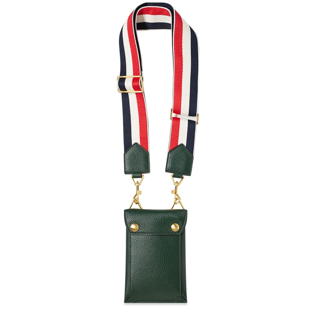 Photo: Thom Browne Leather Phone Holder Bag with Grosgrain Strap