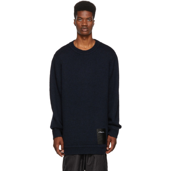 Photo: 3.1 Phillip Lim Navy Maxi Chunky Wool Sweater