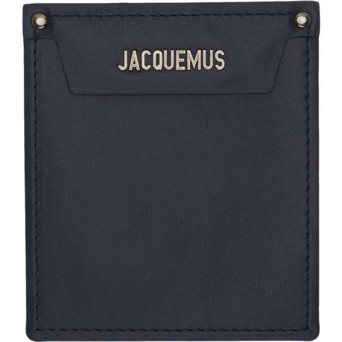 Photo: Jacquemus Navy Le Porte Poche Wallet