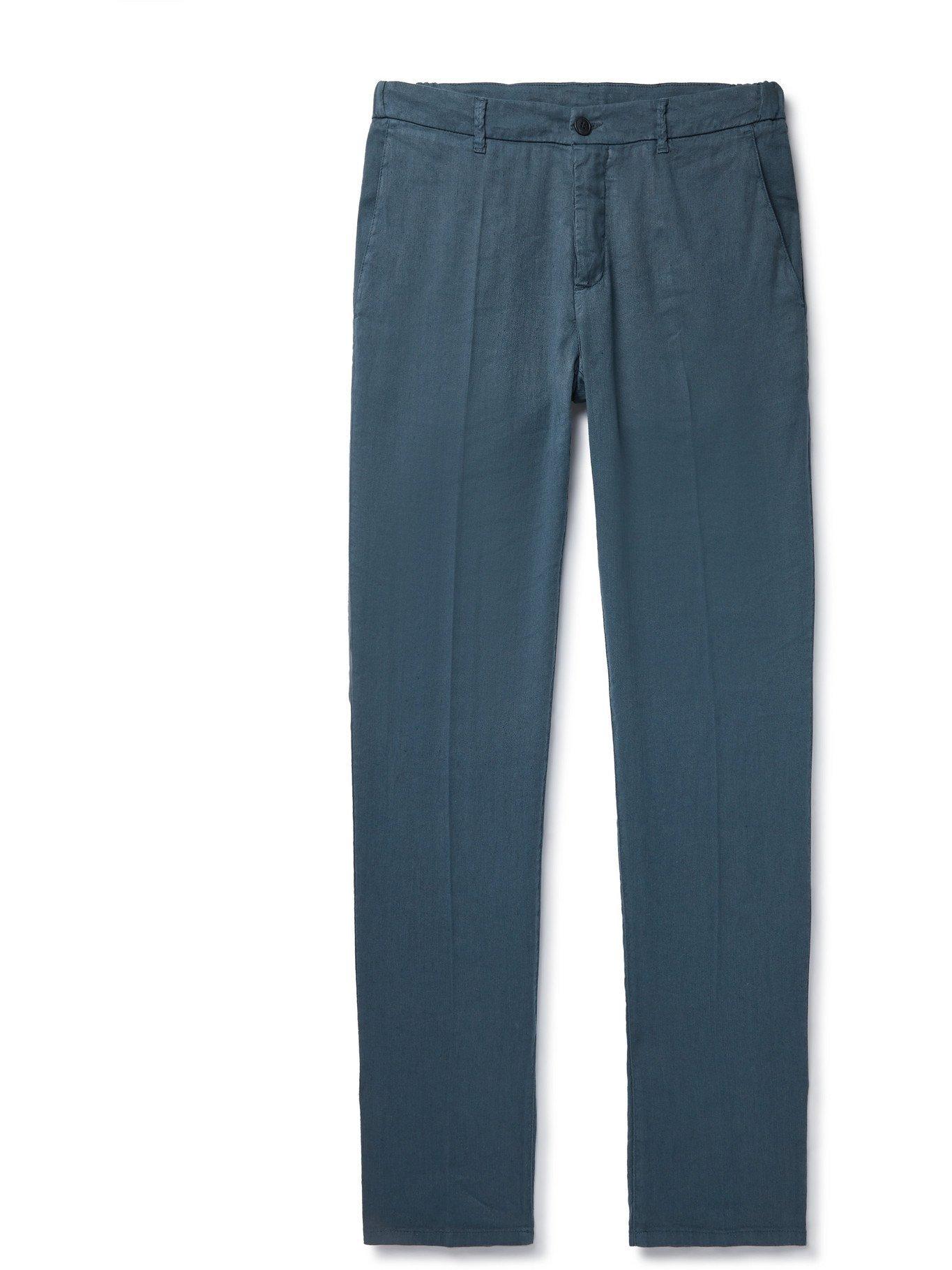 Photo: ALTEA - Dumbo Linen-Blend Trousers - Blue