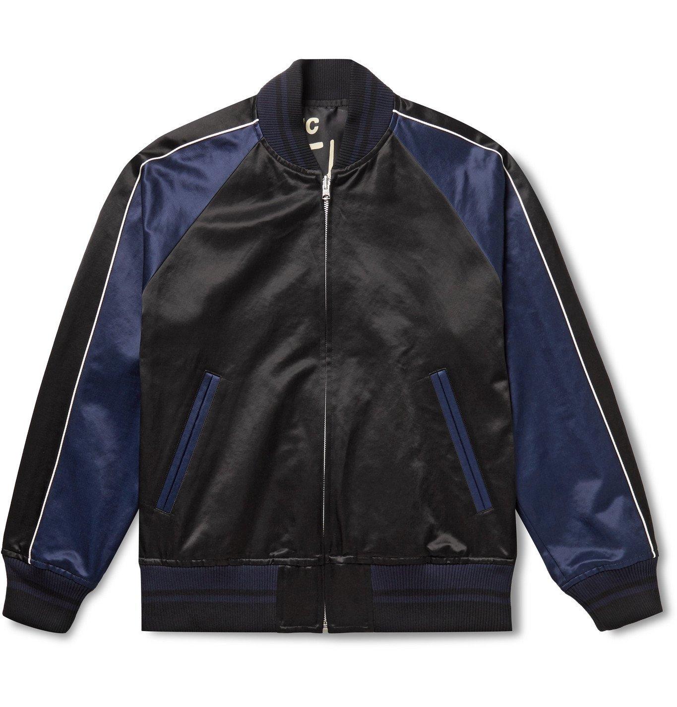 Sacai - Funkadelic Reversible Printed Cotton-Blend Satin Bomber Jacket - Black