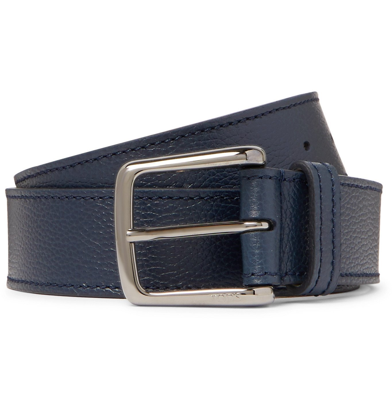 Photo: Tod's - 3.5cm Full-Grain Leather Belt - Blue