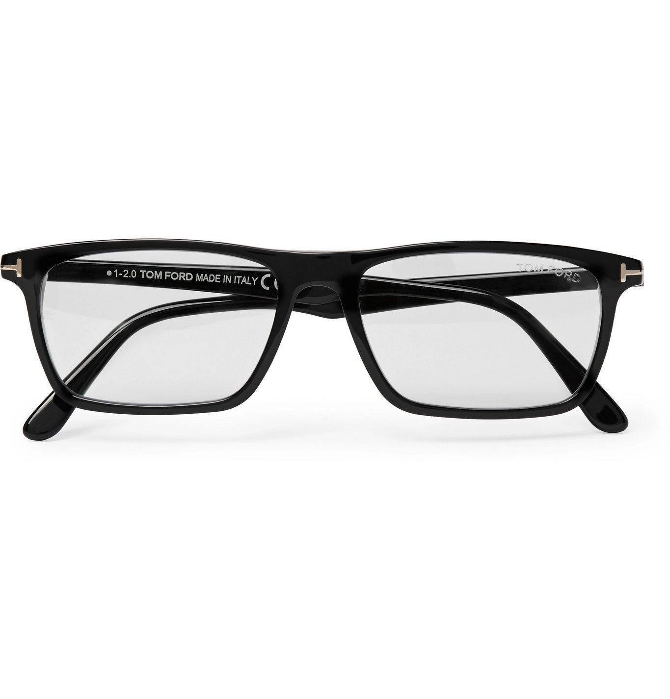 Photo: TOM FORD - Square-Frame Acetate Optical Glasses - Black