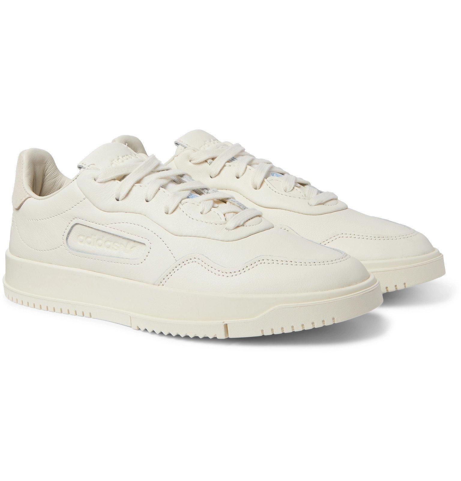 adidas Originals - SC Premiere Suede-Trimmed Leather Sneakers - Neutrals