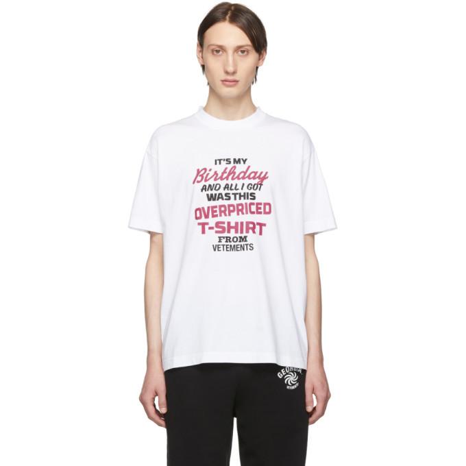 Photo: Vetements White Birthday T-Shirt