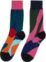 Sacai Multicolor KAWS Edition Colorblocked Socks