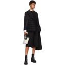 Sacai Black Wool Windowpane Check Blazer