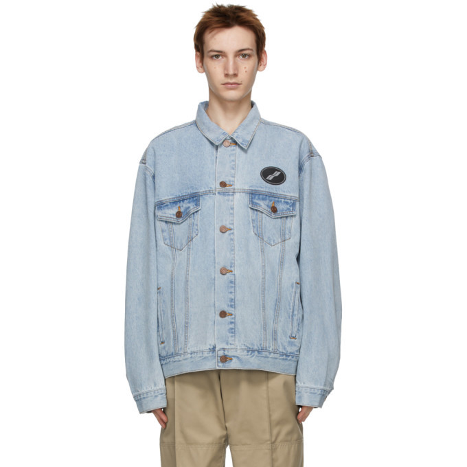 Photo: We11done Blue Oversized Denim Jacket