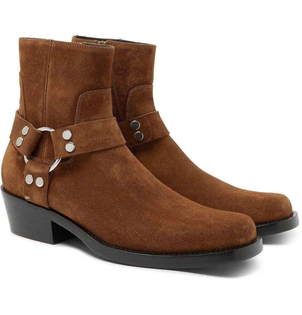 Balenciaga - Suede Harness Boots - Men