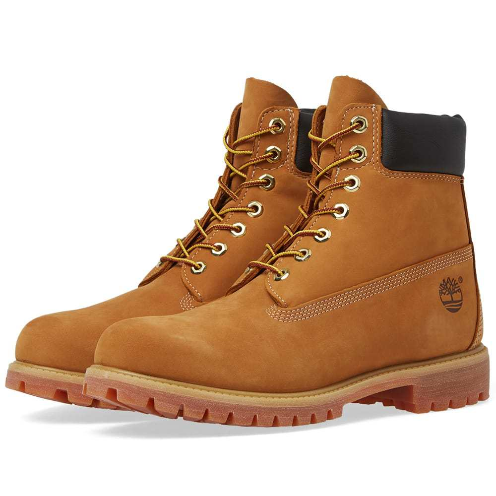 "Photo: Timberland 6"" Premium Boot Wheat Nubuck"