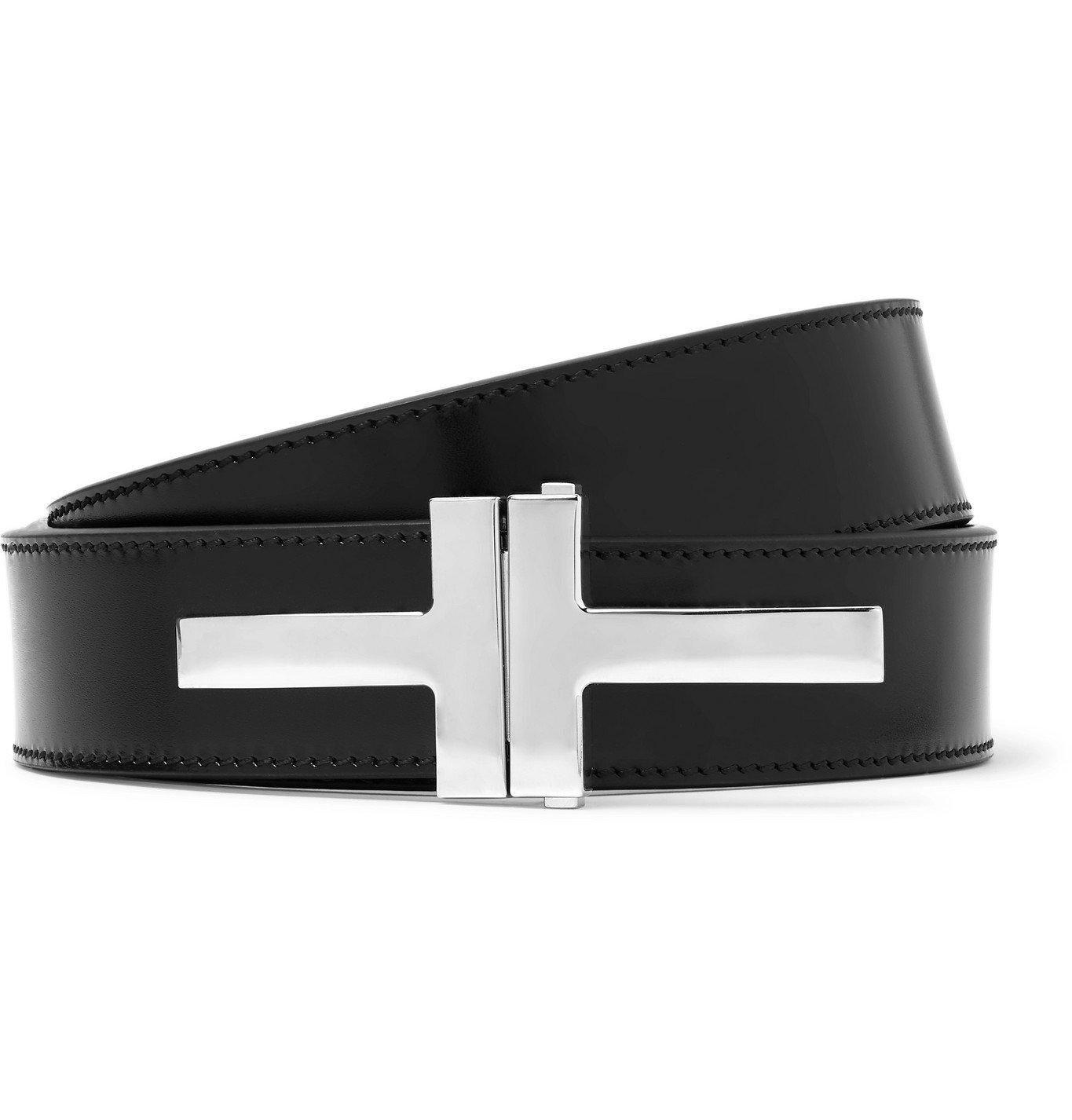 Photo: TOM FORD - 3cm Leather Belt - Black
