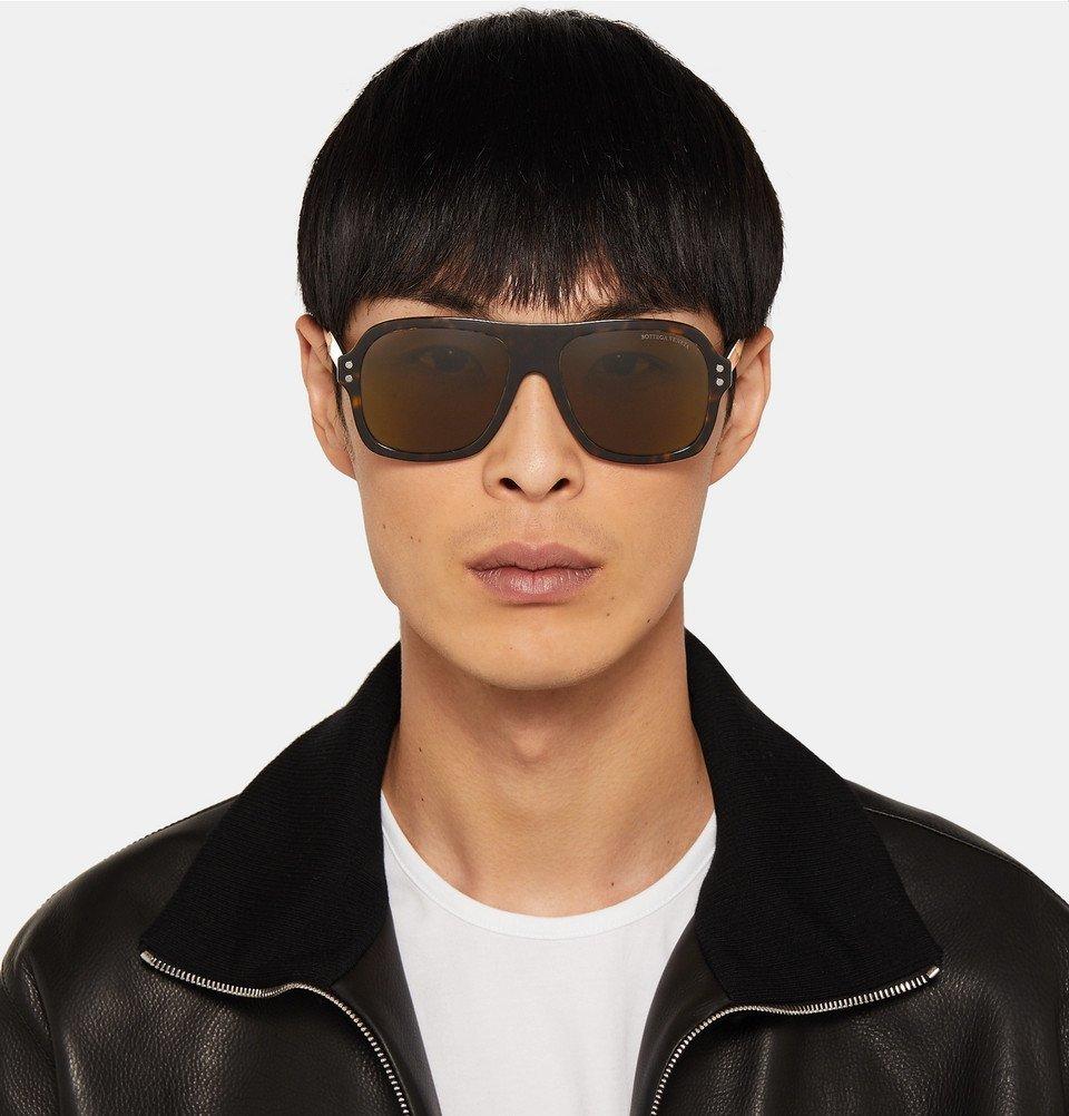 Bottega Veneta - Aviator-Style Tortoiseshell Acetate and Gold-Tone Sunglasses - Tortoiseshell