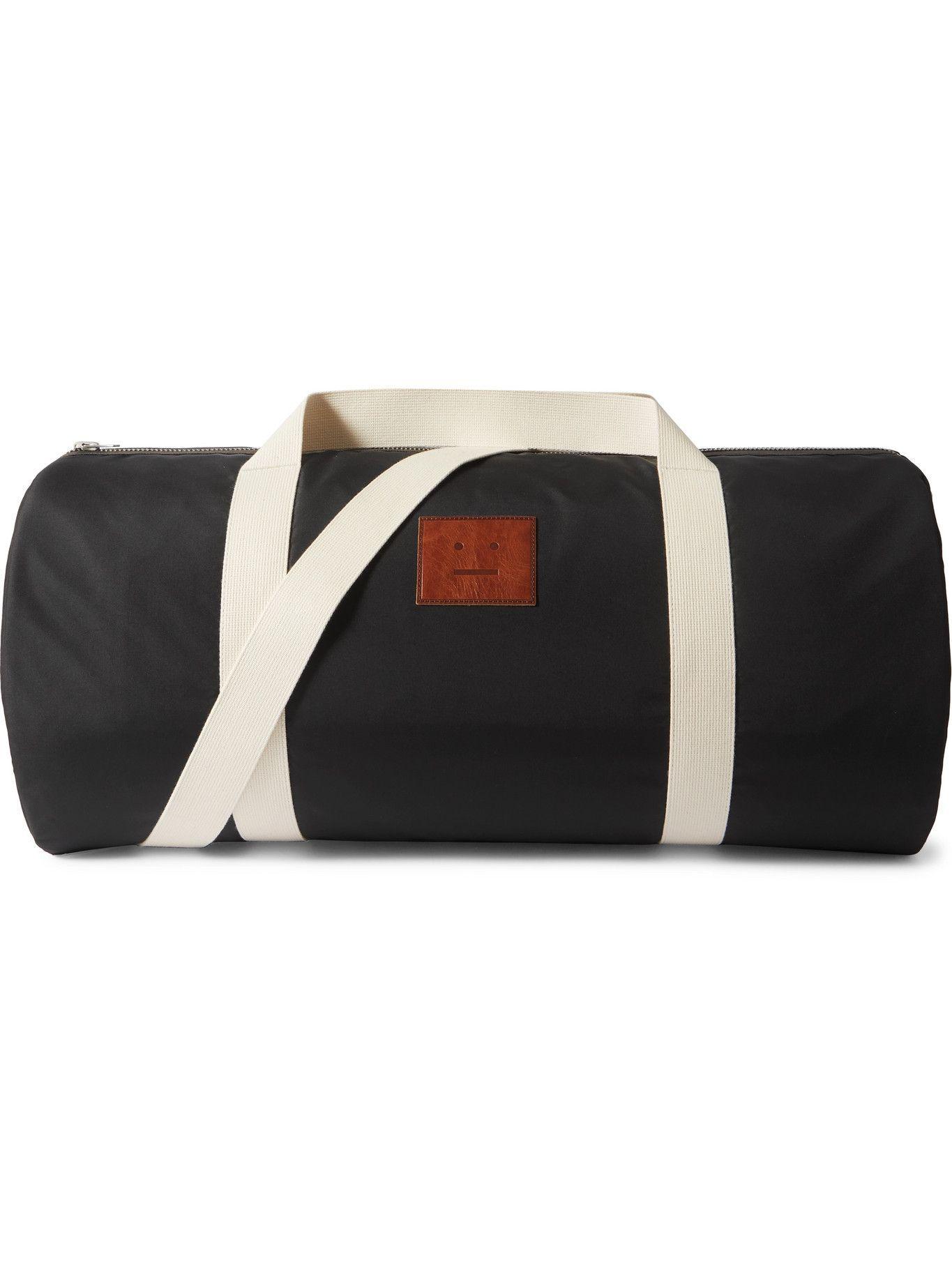 Photo: ACNE STUDIOS - Logo-Appliquéd Shell Duffle Bag