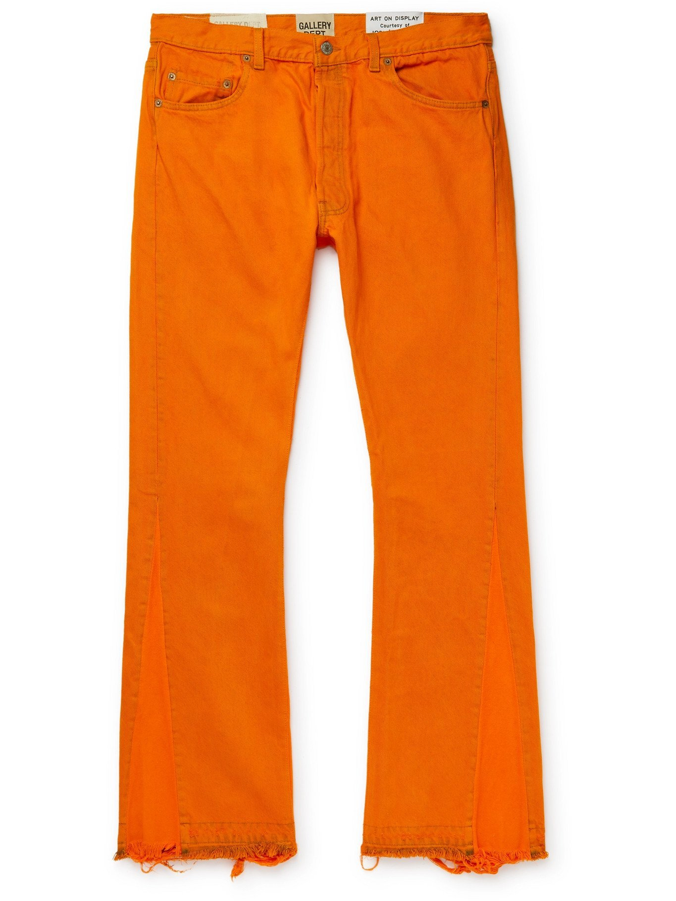 Photo: GALLERY DEPT. - La Flare Slim-Fit Distressed Denim Jeans - Orange - 32W 32L