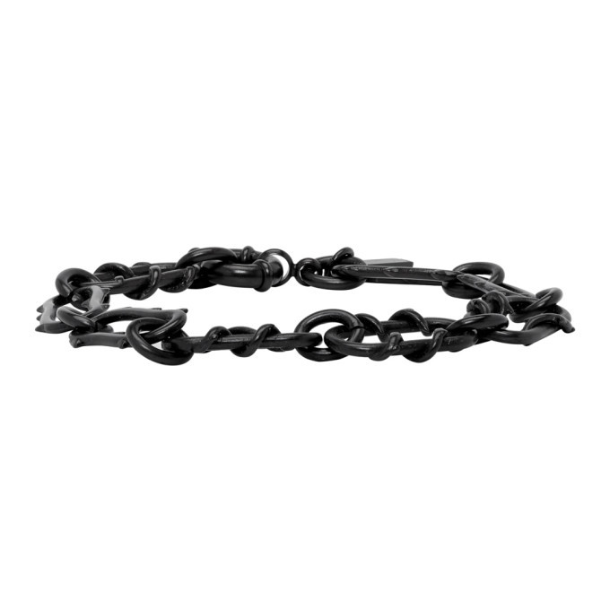 Photo: Dsquared2 Gunmetal Roses Chain Bracelet