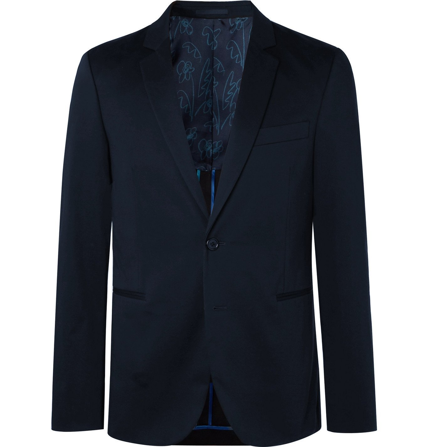 Photo: PS Paul Smith - Navy Cotton-Blend Suit Jacket - Blue