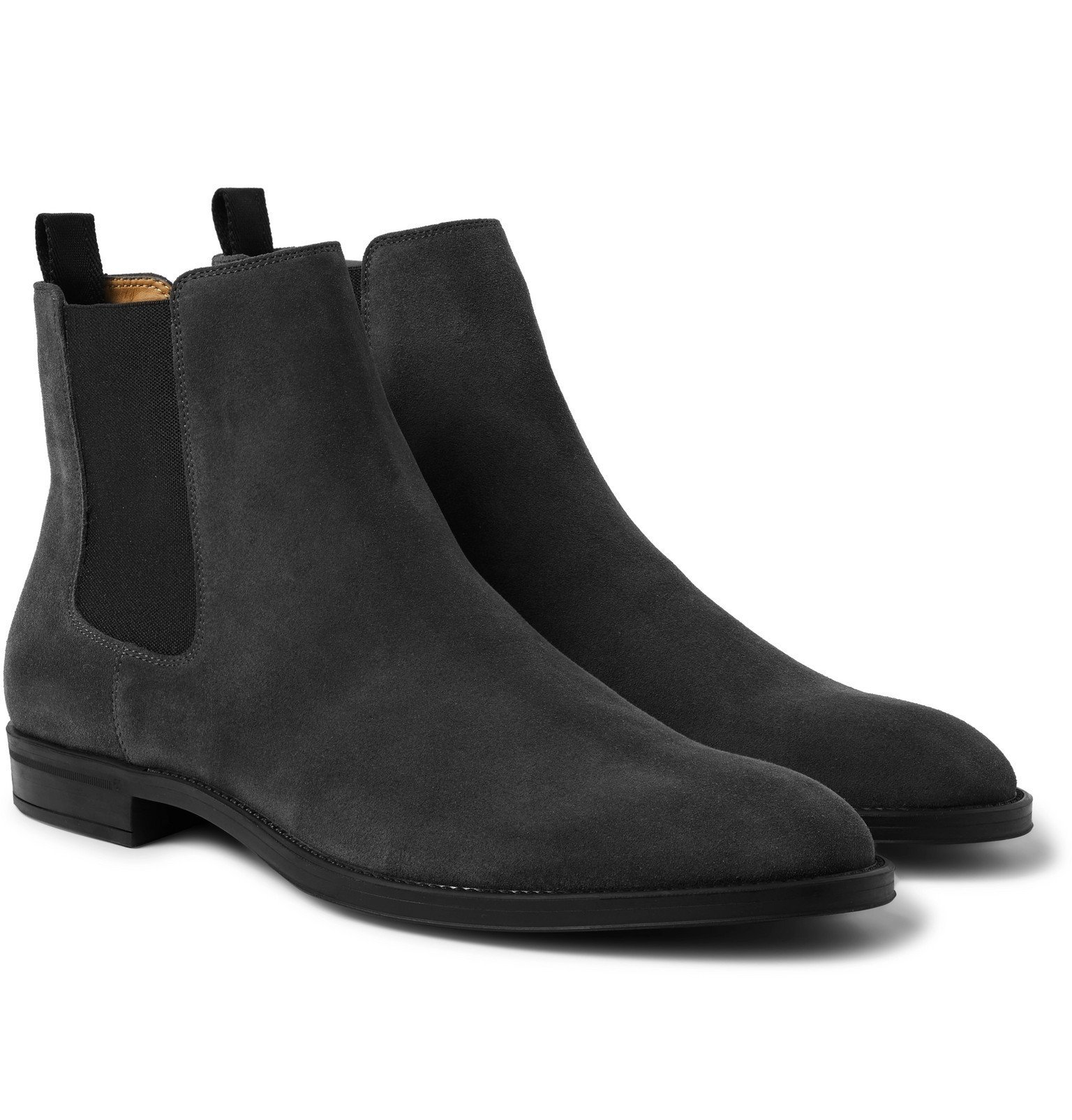 Photo: Hugo Boss - Coventry Suede Chelsea Boots - Gray
